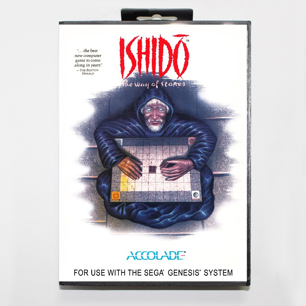 16 bit Sega MD game Cartridge with Retail box – Ishido The Way of Stones game cart for Megadrive for Genesis system
