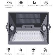 IP65 2000mA двойной датчик 3 mode Солнечный свет открытый индукции тела уличное освещение светодиодная Сад двор