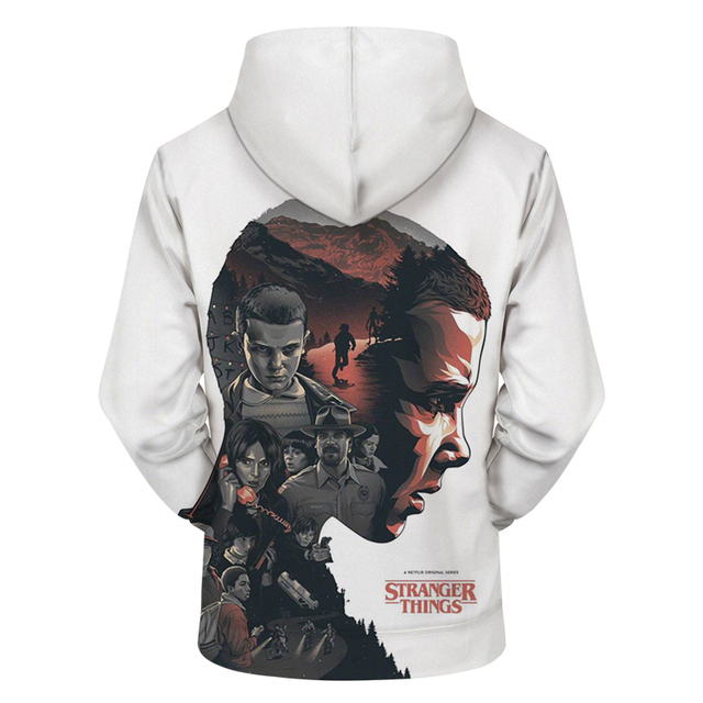 2018 New Men's Hoodies Stranger Things Printed Pullover Thin Hoodies & Sweatshirts For Spring Antumn Men Coat Casual Clothes 5