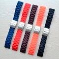 18mm 20mm 22mm 24mm Universal Faixa de Relógio Ligação de Borracha de Silicone Pulseira Wrist Strap Soft Light Para Das Mulheres dos homens relógio de Pulso