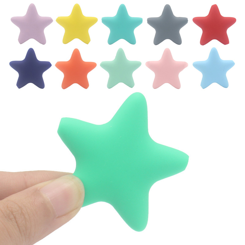 Newborn Baby Teething Teethers Free Star Silicone Toys DIY BPA Accessories Baby Soft Shape