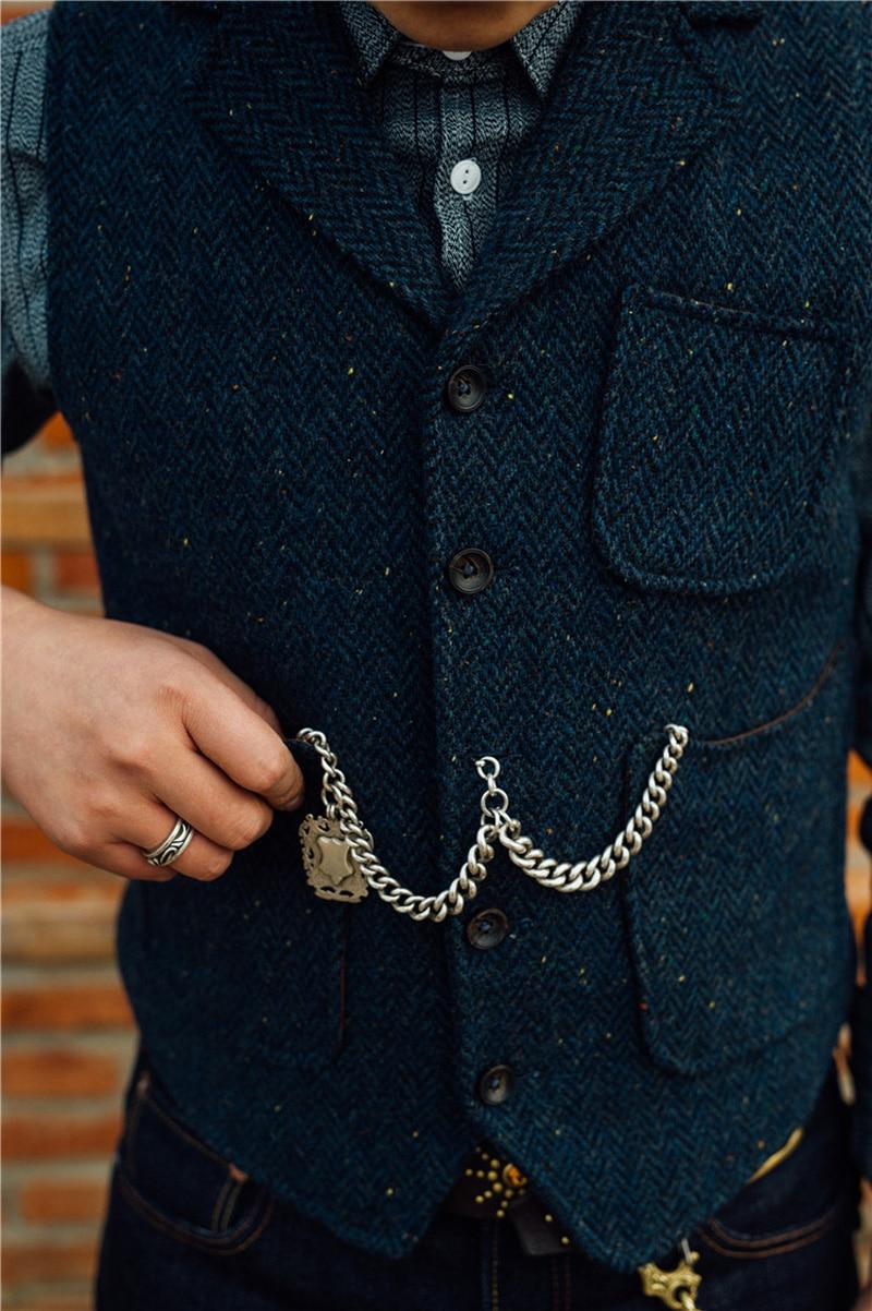 500g Westen & Westen Heavy Wolle Herren 95% Tweed Wolle Weste Amerikanische Vintage Weste Rrl Stil Winter Warme Gentleman Sleeveless Jacke Herrenbekleidung & Zubehör