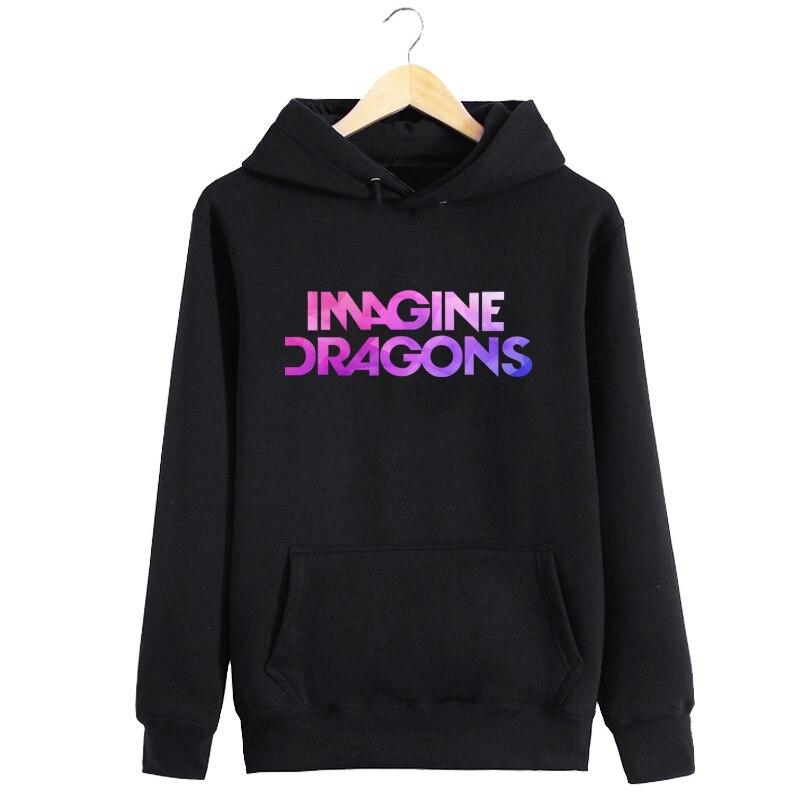 2019 Hoodie With Pocket IMAGINE DRAGONS Letter Print Moletom Women Sweatshirt Hooded Tumblr Women Hooded