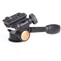 Video Tripod Ball Head 3 Way Fluid Head Rocker Arm With Quick Release Plate For DSLR