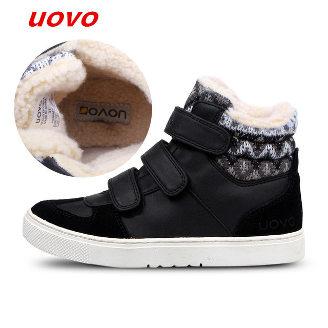 985cdb866e23 2018UOVO Fall Children Shoes Boys and Girls Sneakers 3 Hooks and Kids Shoes  High Quality Sports Running Shoes for Kids Warm shoe