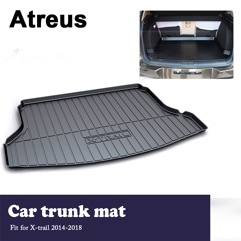 Atreus Car Accessories Trunk Mat Tray Floor Carpet Pad Waterproof Anti-slip For Nissan X-trail T32 2014 2015 2016 2017 2018 цена