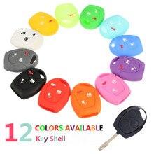 Multicolor 3 Botton Silicone Remote Key Case Cover for FORD/Focus/Mondeo for/Festiva/Galaxy/C-Max 9702 12 Colors