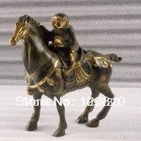 00362 K13186 dorure bronze singe cheval statue colis doré
