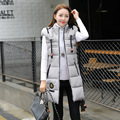 L-XXXL Chalecos Mujer Vest Down Parka Coat  Autumn Winter Women Mandarin Collar Waistcoat Female colete Long Casual veste femme