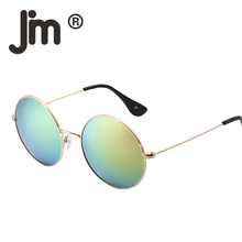JM Wholesale 10PCS/LOT Retro Vintage Round Metal Frame Mirror Reflective Circle Lens Steampunk Sunglasses Women Men Oculos