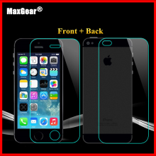 0.3mm 9H Front + Back Tempered Glass For iPhone 4/4s Rear Screen Protector Anti Shatter Film 2015 New Free Shiping