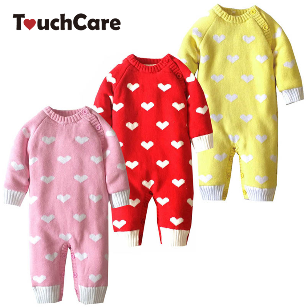Newborn Warm Soft Cotton Baby Romper Infant Lovely Heart Shape Long Sleeve Baby Boy Girl Clothes Fleece Toddler Jumpsuit Costume spring baby romper infant boy bear romper newborn hooded animal clothes toddler cute panda romper kid girl jumpsuit baby costume