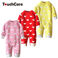 Newborn Warm Soft Cotton Baby Romper Infant Lovely Heart Shape Long Sleeve Baby Boy Girl Clothes Fleece Toddler Jumpsuit Costume