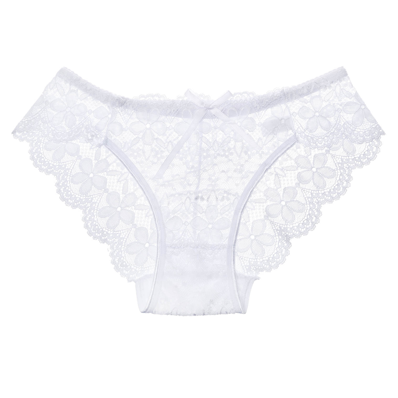 3 Pcs Hot Sale Sexy Lace Seamless Panties Underwear Women Breathable Pantie Hollow Transparent Panties 12