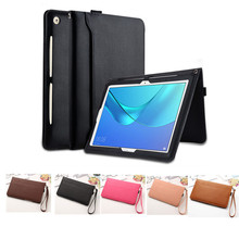 Get more info on the Leather Smart Case For Huawei MediaPad M5 10.8 Pro CMR-AL09 CMR-W09 10.8 inch Tablet Stand Cover Hand strap Storage pocket
