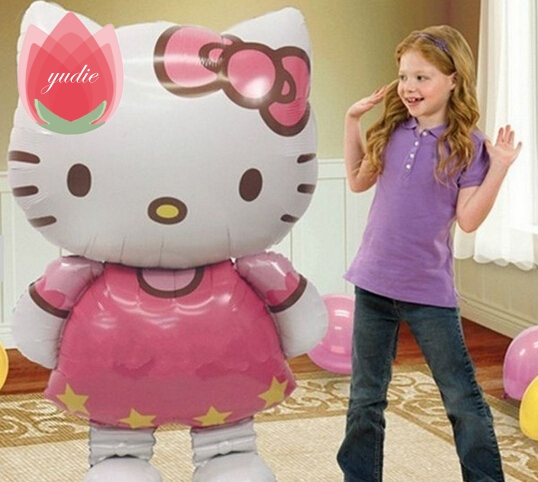 Super Large 46inch Foil Hello Kitty Balloon Float air balls baloons Wedding birthday party decoration Kids Inflatable Toys