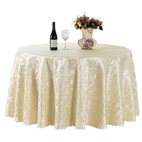 All Size Jacquard Flower Tablecloth Polyester Rectangular Round Wedding Party Hotel Decorations