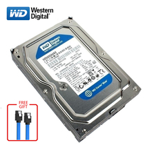 WD BLUE brand 500GB internal hard disk 3.5 7200RPM SATA2/SATA3 HDD 6Gb/s 500G HD hard disk for desktop computers free shipping наполнитель для туалетов домашних животных мурзик лесной древесный 4 5 л
