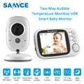 Беспроводной видеоняня SANNCE, цветной монитор для видеосъемки, 3,2 дюйма, двусторонний радионяня, камера безопасности с ночным видением, монит...