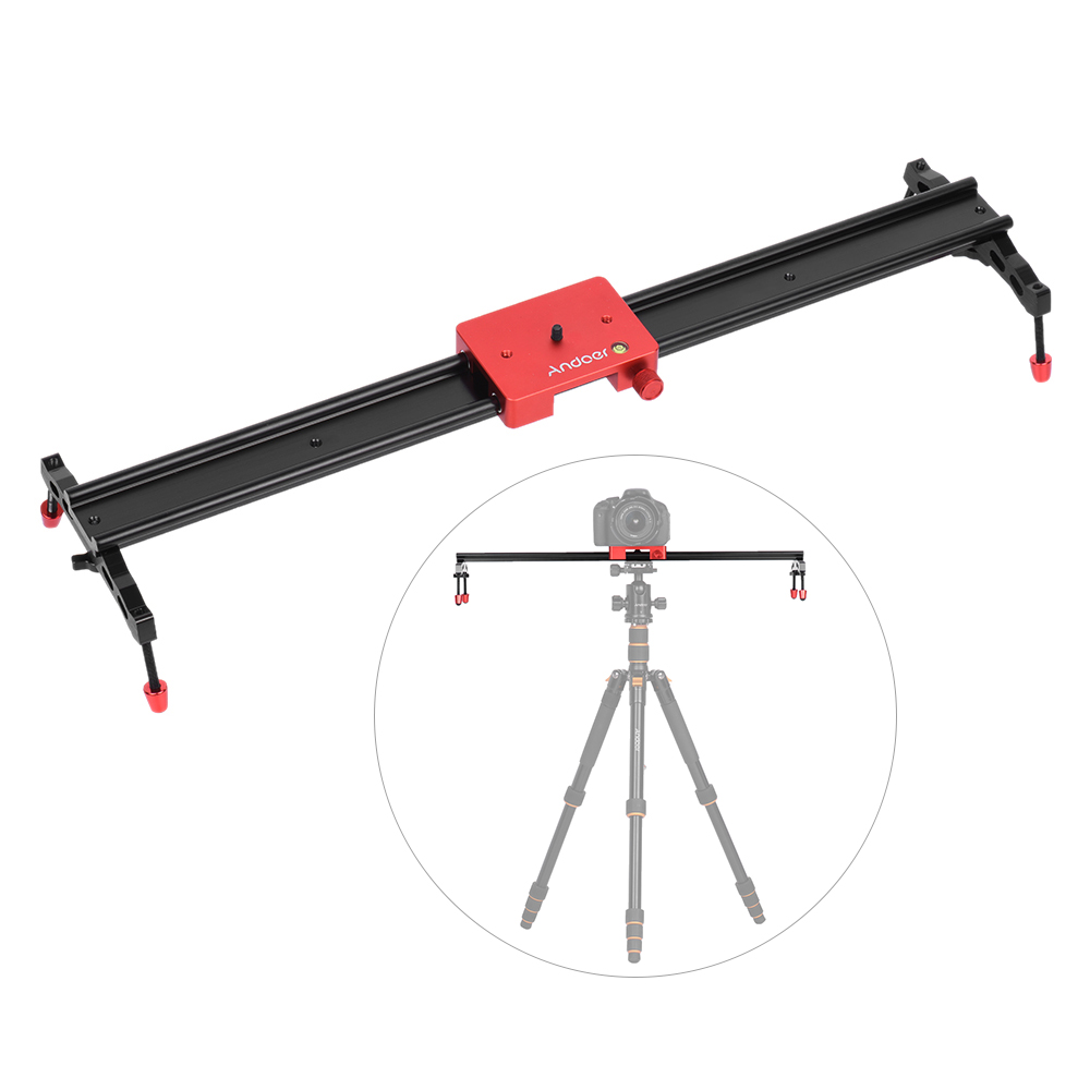 Andoer 60cm 23 6 Video Camera Track Slider Dolly Rail Aluminum Alloy Stabilizer for Canon Nikon