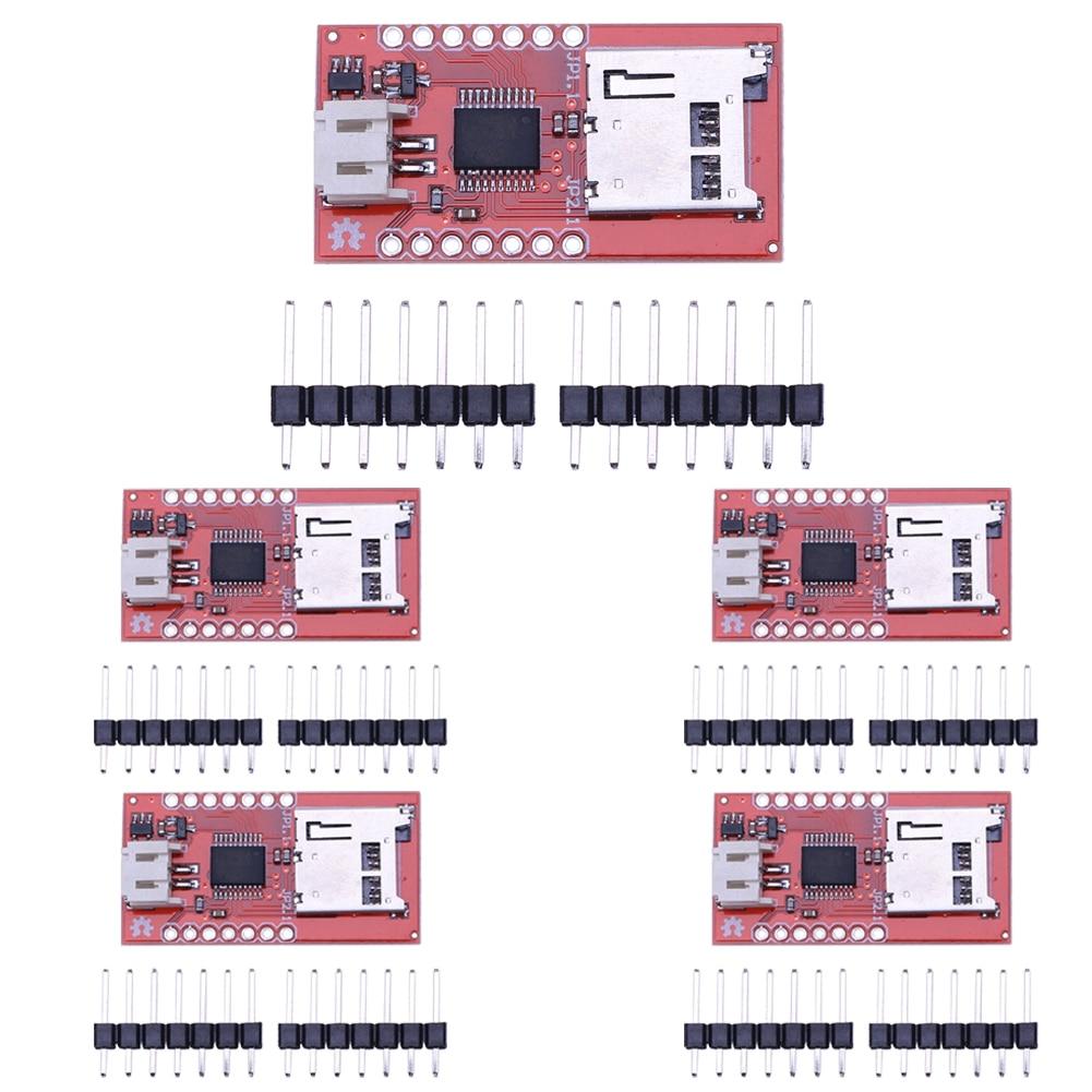 5Pcs/lot WTV020SD Audio Micro SD Card Sound Module Game Device Audio Module Mini IC breakout board