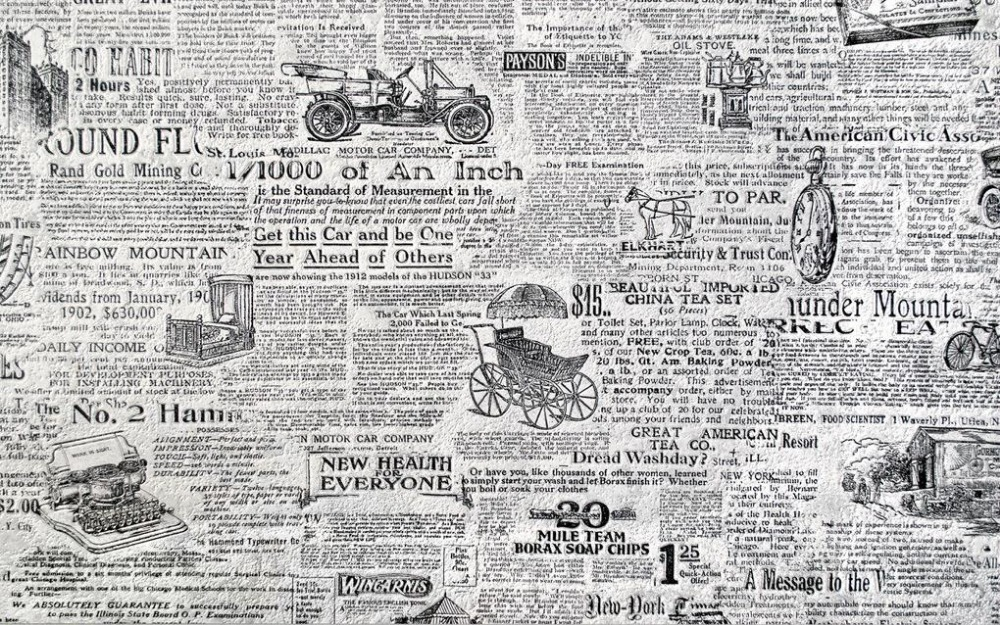 3d Wallpaper For Room Retro Black And White Newspaper Background Wall Decoration Painting Custom In Wallpapers From Home Improvement On