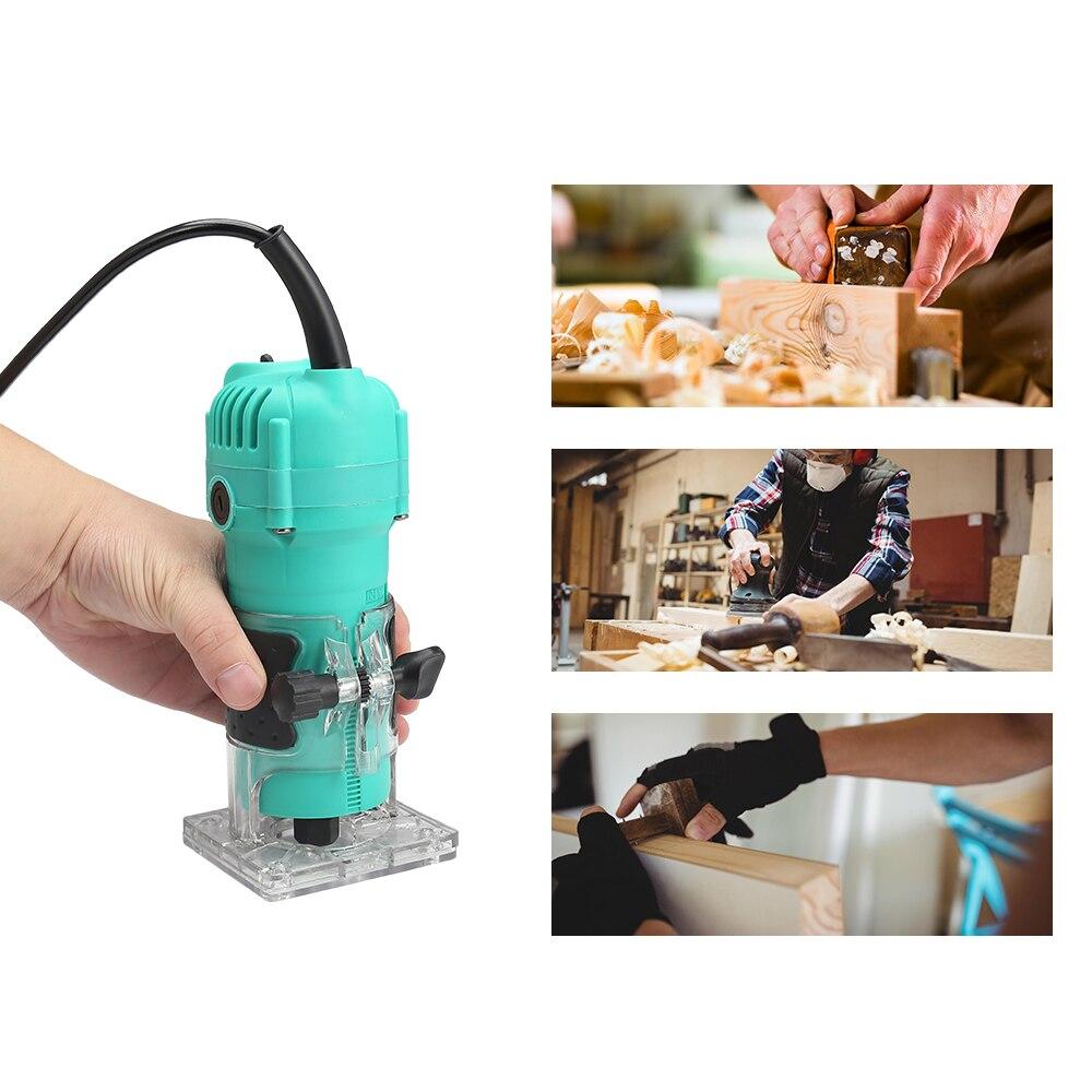 35000 tr/min travail du bois électrique tondeuse à main bois fraisage gravure Machine à rainurer Machine de découpage à la main Machine à bois routeur