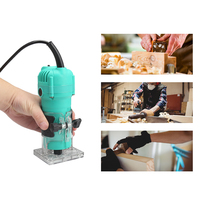 35000rpm Woodworking Electric Hand Trimmer Wood Milling Engraving Slotting Trimming Machine Hand Carving Machine Wood Router