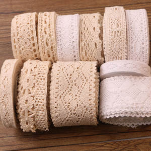 White DIY Wedding Party Craft Cotton Crocheted Lace Ribbon