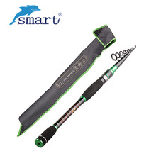 Sale 2017 Smart Telescopic Rod 1.8m/2.1/2.4/2.7/3.0m Carbon M Vara De Pesca Fish Pole Canne Da Pesca Portable Rod Fishing Stand