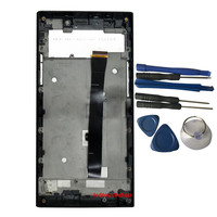 New For Senseit LCD Display FPC HT55057 02 A0 With Touch Screen With Frame Digitizer Replacement With Tools Black Color