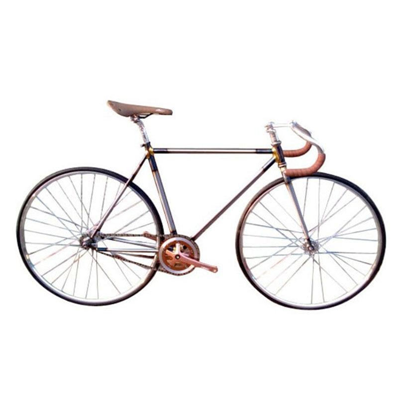 Retro Fixie Bicycle Fixed Gear Bike 700C 52cm 54cm BRONZE BRASS Vintage Frame  DIY Complete Road Bike