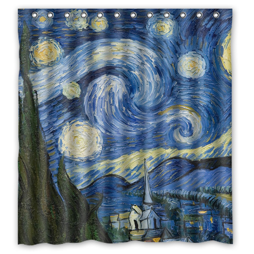 Bathroom Rugs 36 X 72: Starry Night Customized Design Personalized Waterproof