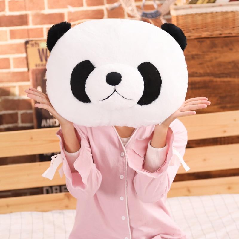tete de panda coussin