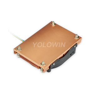 Image 4 - Active cooling Radiator Computer Cooling Products server CPU cooler Computer radiator Copper heatsink for Intel D9 01