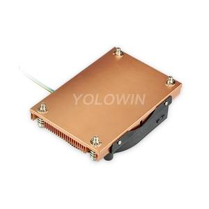 Image 4 - アクティブ冷却ラジエーターコンピュータ冷却製品サーバーcpuクーラーコンピュータラジエーター銅ヒートシンクインテルD9 01