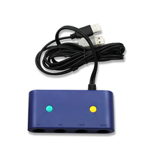 For Gamecube Controller Adapter For Nintendo Switch Wii U Pc 4 Ports With Turbo And Home Button Mode No Driver
