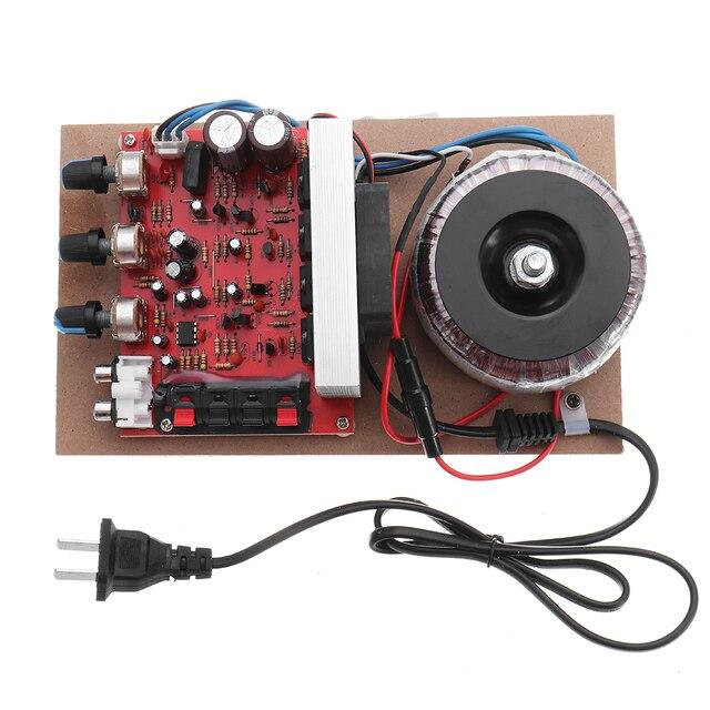 LEORY 200W 220V High Power Amplifier Field Effect Transistor Front Back  Hi Fi Power Amplifier Borod with Fan Cooling Syste