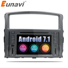 "Eunavi 2 Din 7"" Quad Core Android 7.1 Car Radio Stereo Player GPS Navigation for MITSUBISHI PAJERO V97 2006 2007 2008 2009 2010"