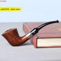 NewBee 10 Tools Kit Briar Wood Handmade Bent ZULU Smoking Pipe Men Birthday Gifts Tobacco Pipe