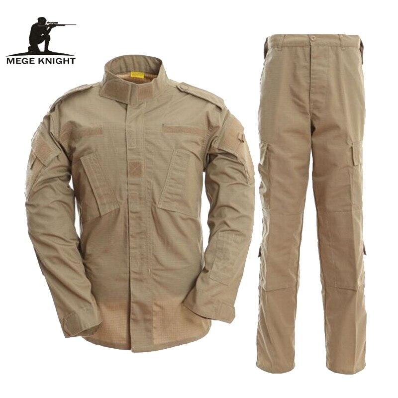 Uniforme de Combat militaire MEGE US ACU, costume Multicam Camouflage militaire, équipement de Paintball tactique Airsoft