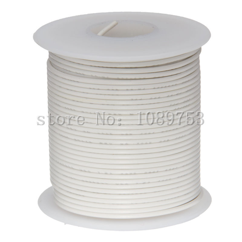 30 Meters UL1007 24# White Flexible Stranded of UL-1007 24 AWG wire cable 30meters white 28awg ul1007 cable electronic wire to internal wiring electrical wires diy cables 100ft 28 awg