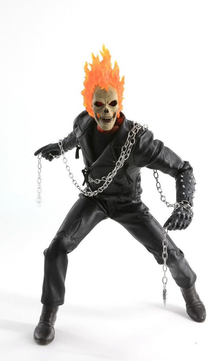 1/6 scale Collectible film figure Ghost Rider with Burning skull head 12 action figures doll model plastic toy,No Box neca god of war 3 kratos 18 inches kratos ghost of sparta pvc action figure collectible model doll toy with box