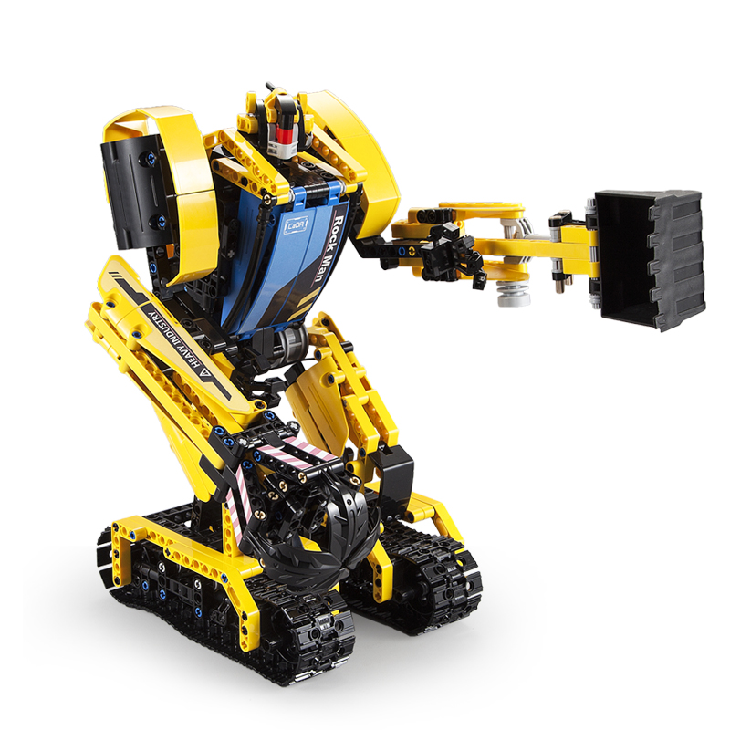 930pcs Intelligent RC Building Block 2 in 1 rc Excavator Toys Remote Control Robot Compatible L Brand toys For Children 1