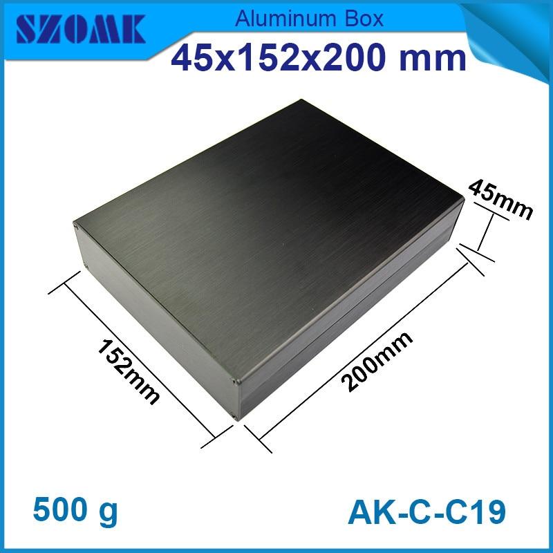 1 pièce brossé en aluminium extrusion boîtier de jonction électrique logement en noir 45*152*200mm