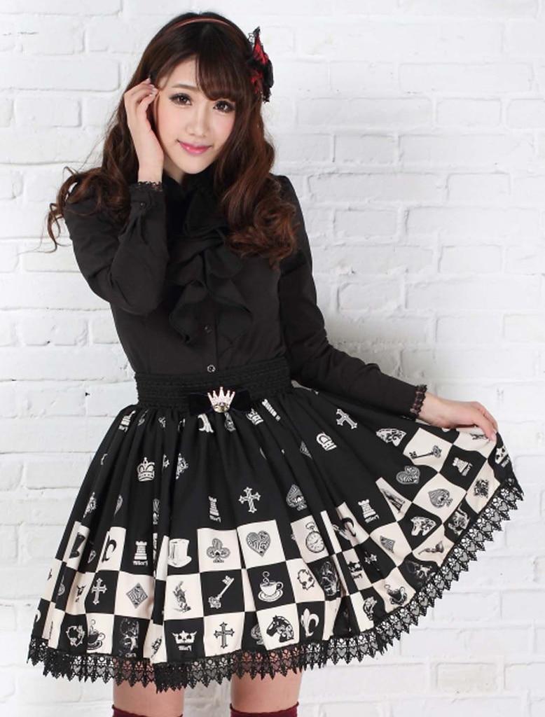 Γοτθική ελαστική φούστα για - Γυναικείος ρουχισμός - Φωτογραφία 4
