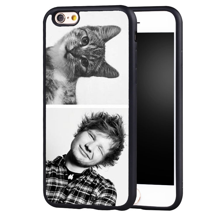 Funny ED SHEERAN Printed Soft Rubber Skin Mobile Phone Cases Accessories For iPhone 6 6S Plus SE 5 5S 5C 4 4S Back Shell Cover