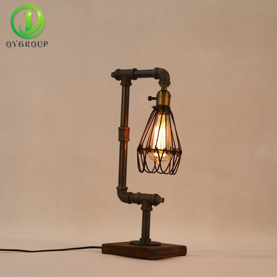 vintage industrial table lamps lights loft water