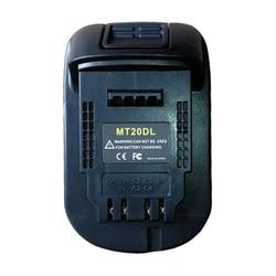 Konwerter MT20DL karta z ładowarką usb do konwertera narzędzi DeWalt Makita 18V akumulator litowo jonowy BL1830 BL1860 BL1815 do DCB200 w Akcesoria do elektronarzędzi od Narzędzia na