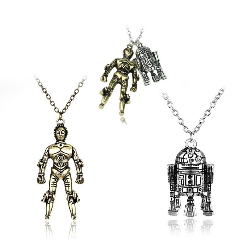 Star Wars R2D2 Necklace/ Robot Charm Necklace Star Wars Geek Fan gift Jewellery